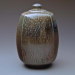 Salt glaze porcelain lidded jar