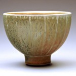 Salt glaze porcelain faceted bowl