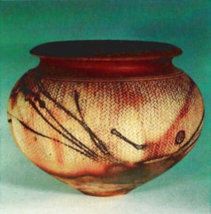 First Terra Sigillata pot made in 1987. Casuarina and rope markings.